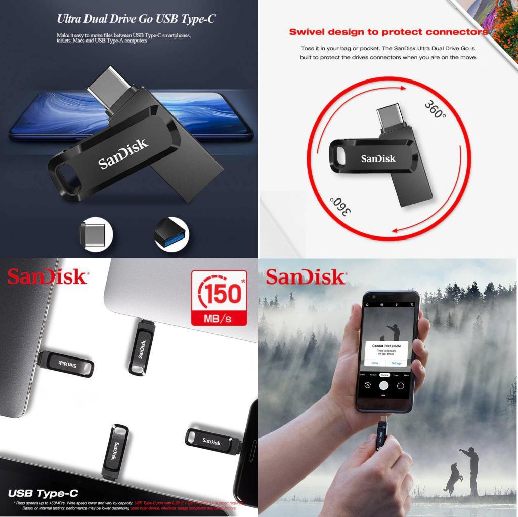 Sandisk Dual Otg Type C Usb 3 1 Flash Drive (3)