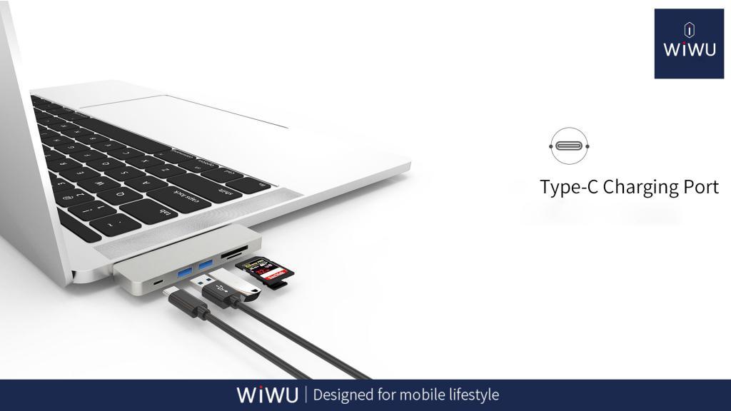 Wiwu T8 Lite 5 In 1 Type C Hub Adapter (1)