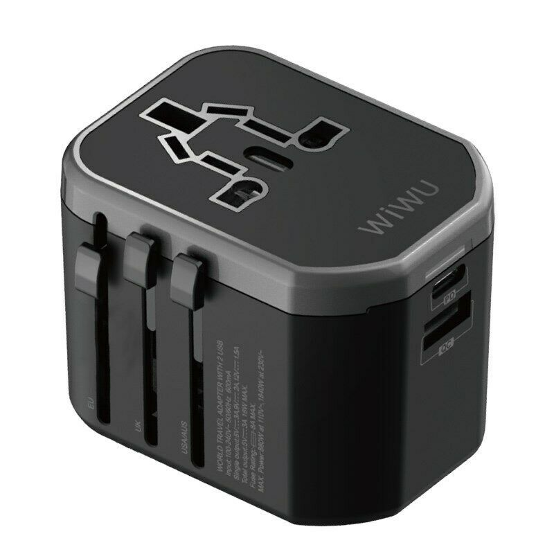 Wiwu Ua 302 Multi Function Travel Adapter (1)