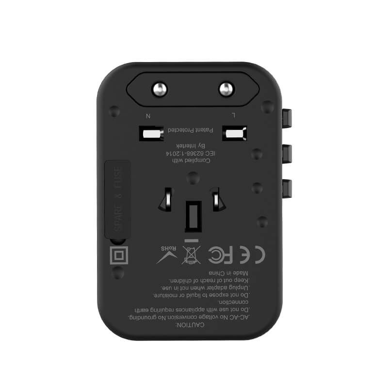 Wiwu Ua 303 Universal Adapter Qc 3 0 Pd With 3 Usb And 2 Type C Ports (2)