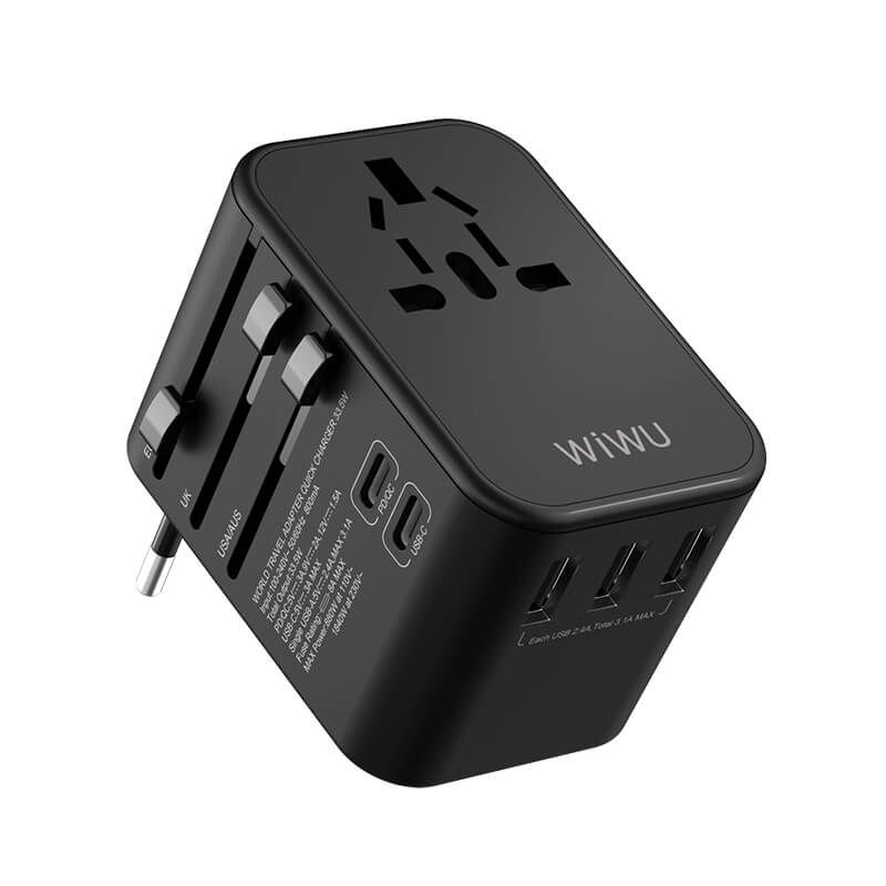 Wiwu Ua 303 Universal Adapter Qc 3 0 Pd With 3 Usb And 2 Type C Ports (3)