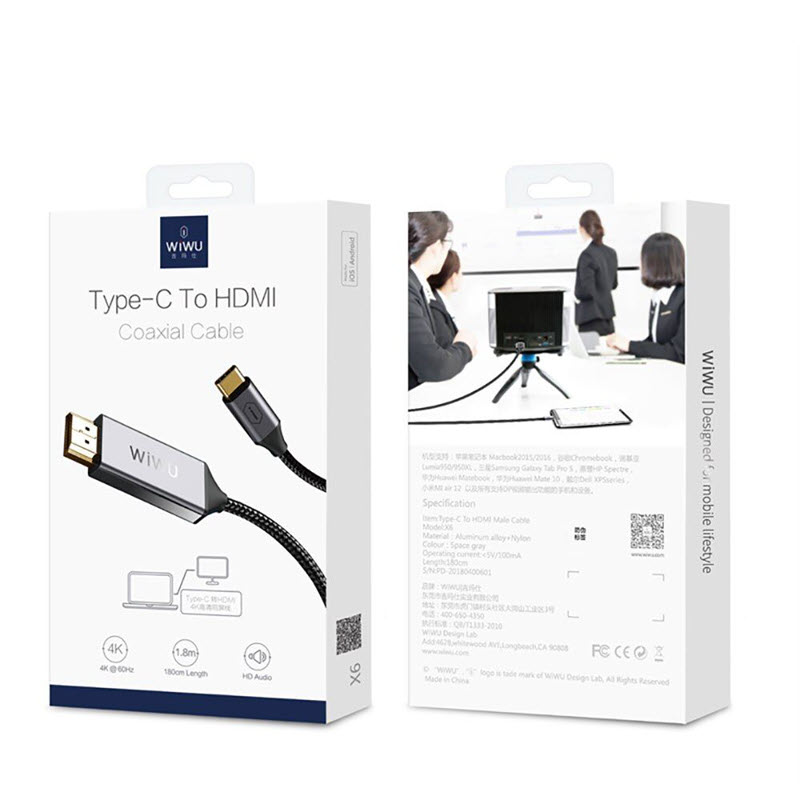Wiwu X9 Type C To Hdmi 4k Usb 3 1 Coaxial Cable Adapter (1)