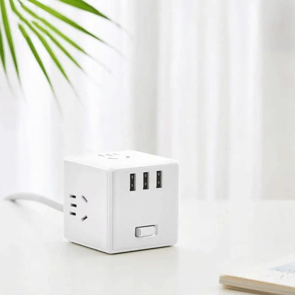 Xiaomi Mijia Magic Cube 3 Usb Ports Power Strip Adapter (2)