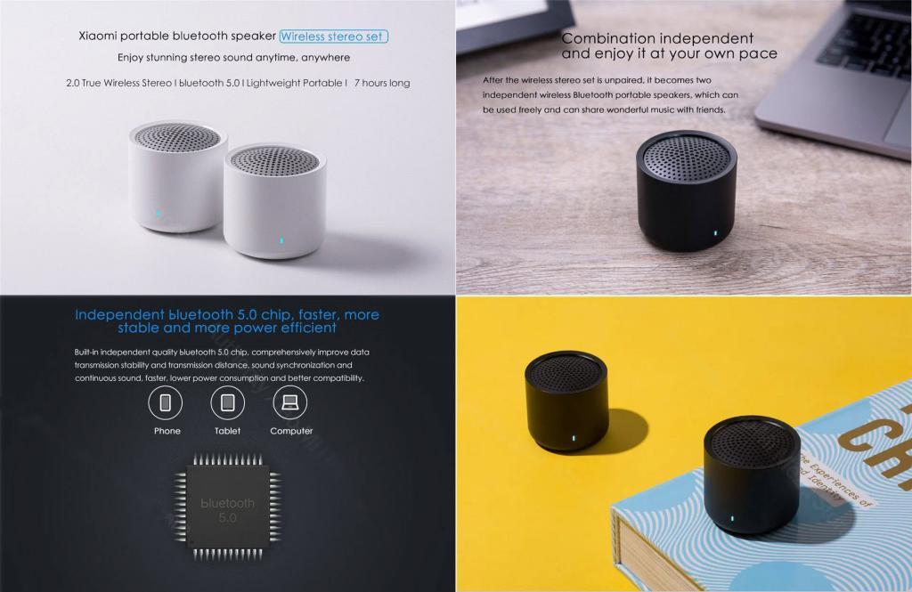 Xiaomi Portable Tws Bluetooth 5 0 Speakers 2pcs (1)