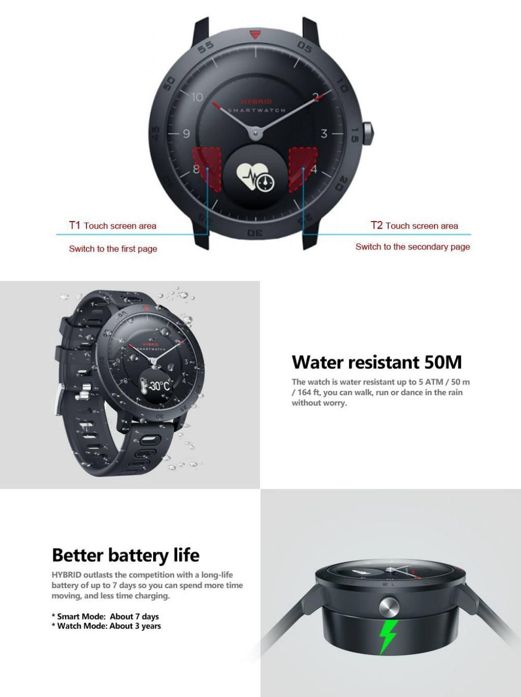 Zeblaze Hybrid Dual Modes Mechanical Smart Watch (2)