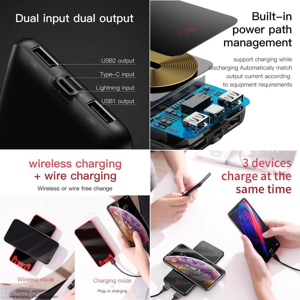Baseus Tmall Cat 10000mah Qi Wireless Charger Power Bank (3)