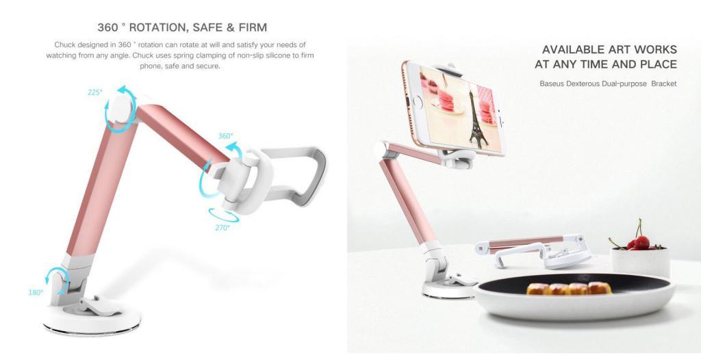 Baseus 360 Degree Rotation Portable Lazy Bracket Universal Phone Holder (1)