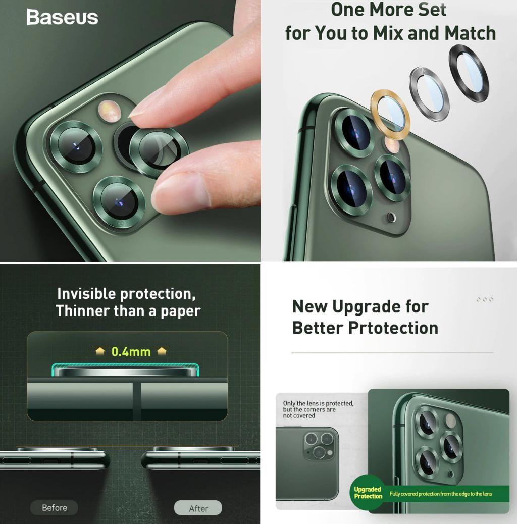 Baseus Camera Lens Protectors For Iphone 11 Iphone 11 Pro Iphone 11 Pro Max (2)