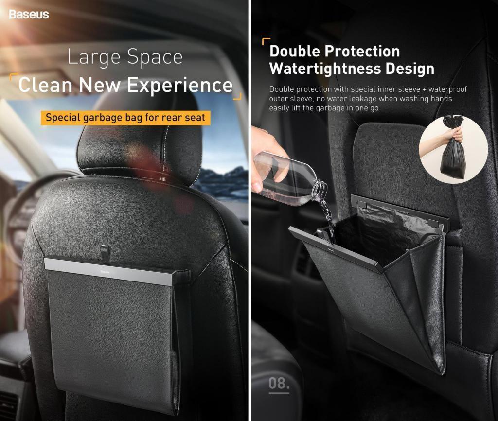 Baseus Car Organizer Pu Leather Back Seat Storage Bag (1)