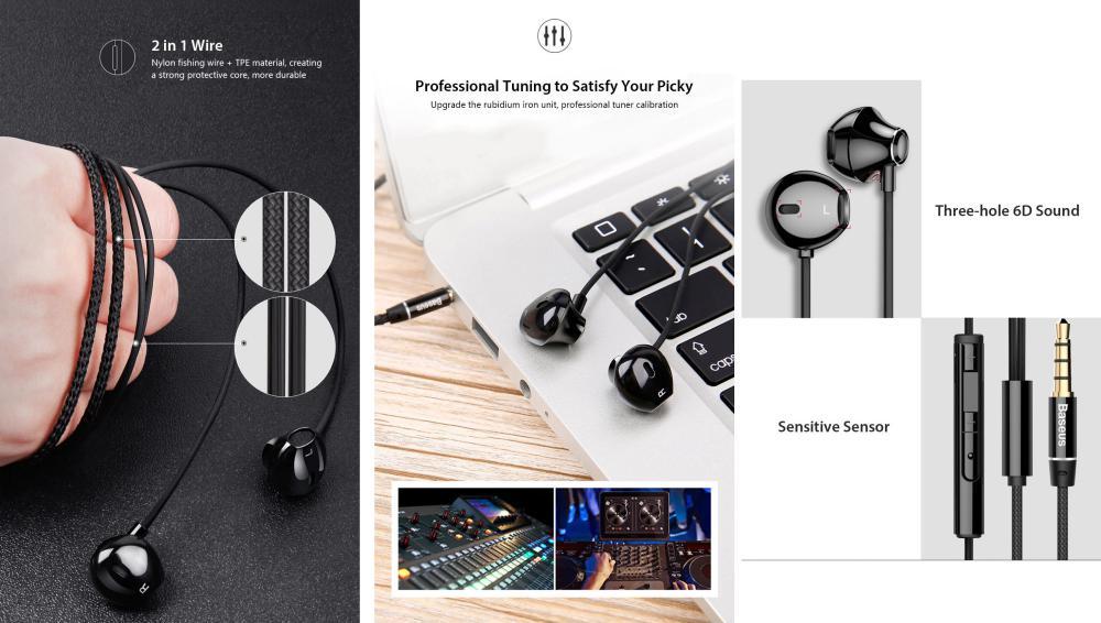 Baseus H06 In Ear Stereo Bass Earphones (3)