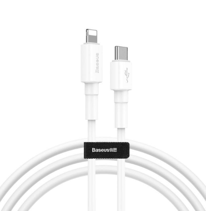Baseus Mini White Cable Type C To Ip Lightning Pd 18w (1)