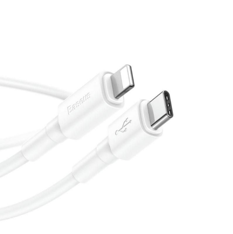 Baseus Mini White Cable Type C To Ip Lightning Pd 18w (2)