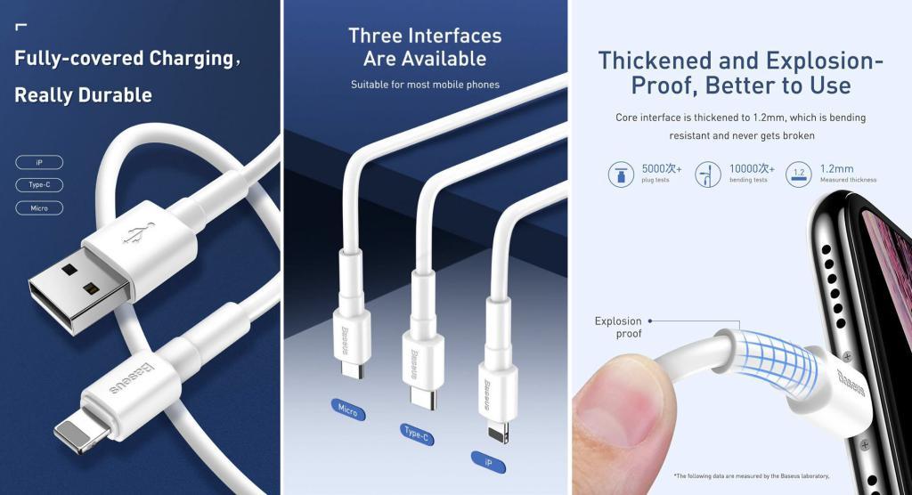 Baseus Mini White Cable Usb For Ip Lightning (2)