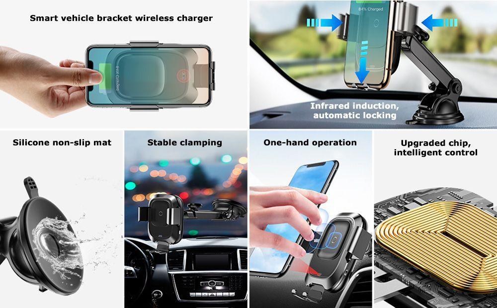 Baseus Smart Vehicle Bracket Wireless Charger (4)