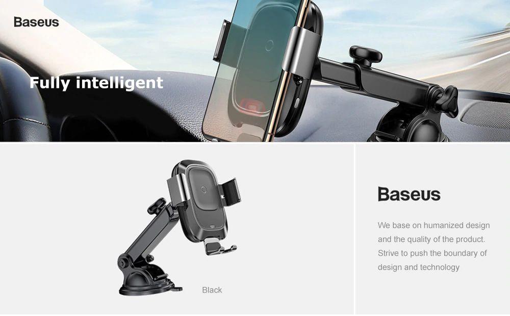 Baseus Smart Vehicle Bracket Wireless Charger (5)
