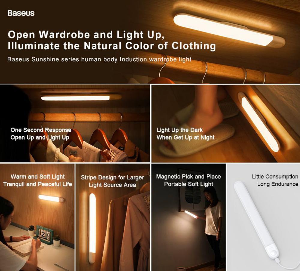 Baseus Sunshine Series Human Body Induction Wardrobe Light (1)