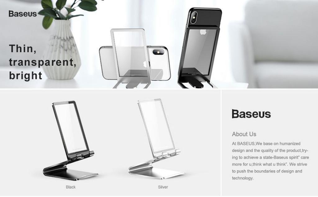 Baseus Suspension Glass Desktop Bracket Mobile Phone Pad Holder (2)