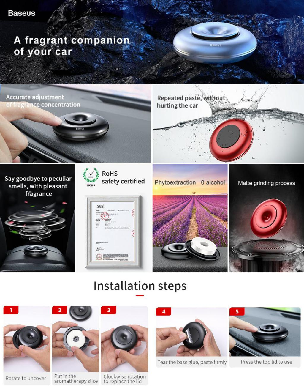 Baseus Vortex Car Air Fresher Holder (4)
