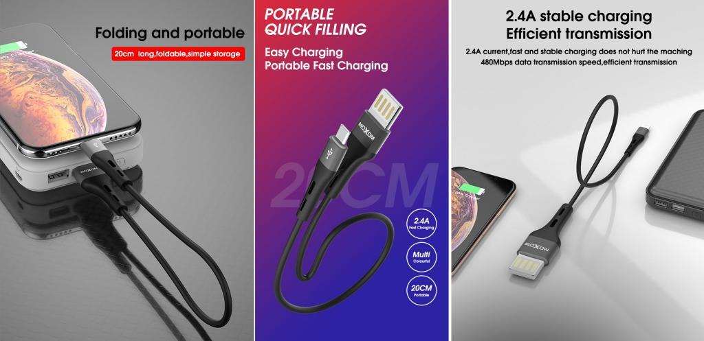 Moxom Mx Cb07 Mini Usb Cable For Lightning Type C Micro (1)
