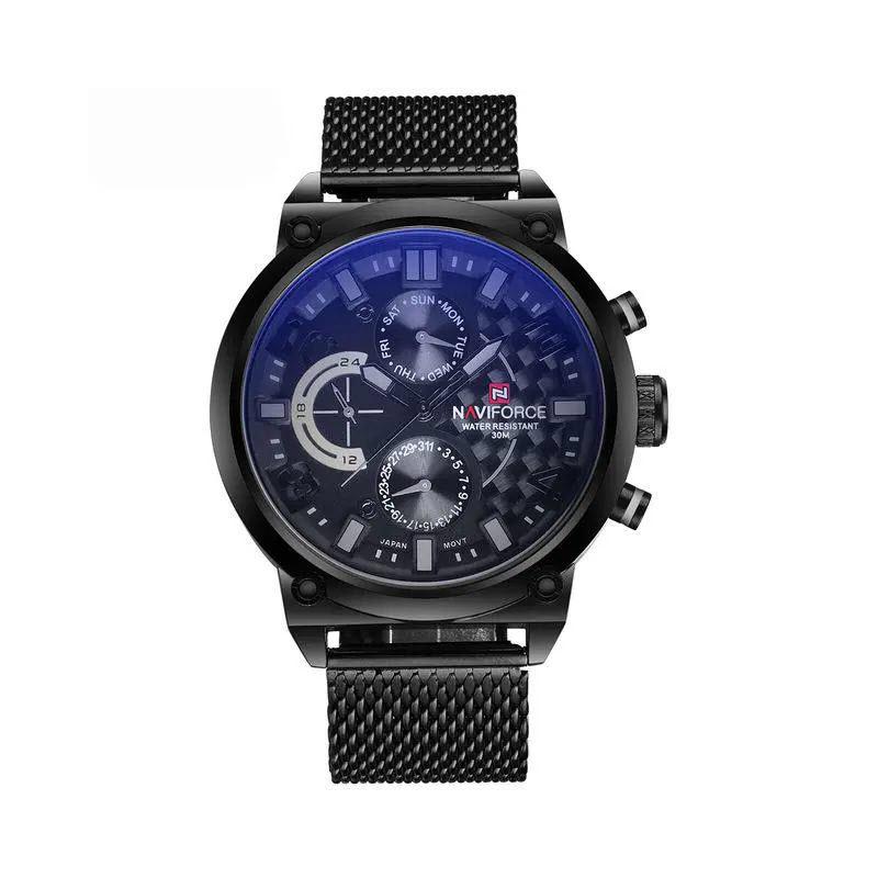 Naviforce 9068 Stainless Steel Strap Quartz Watches (1)