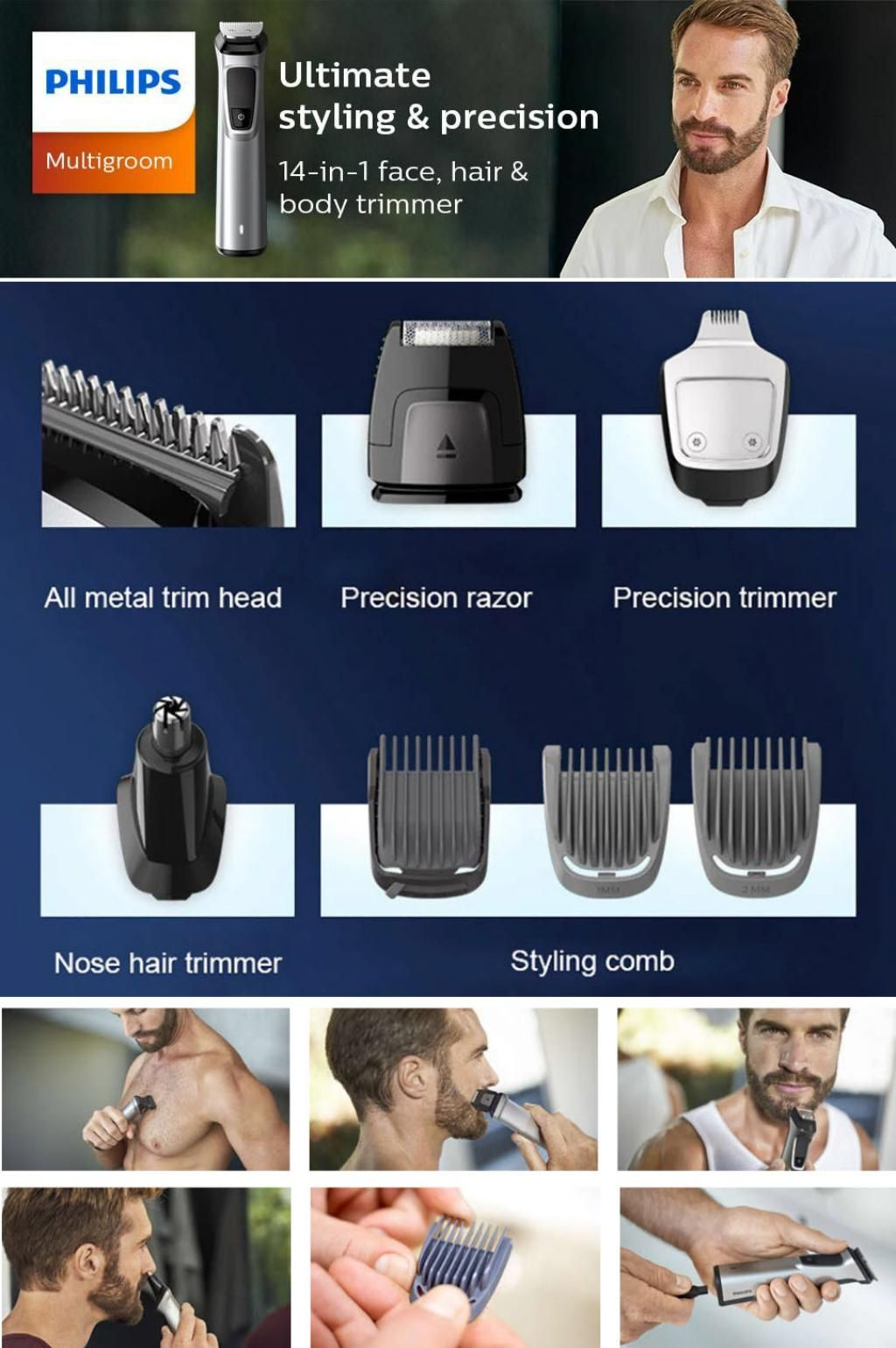 Philips 14 In 1 Electric Shaver Trimmer Set (3)