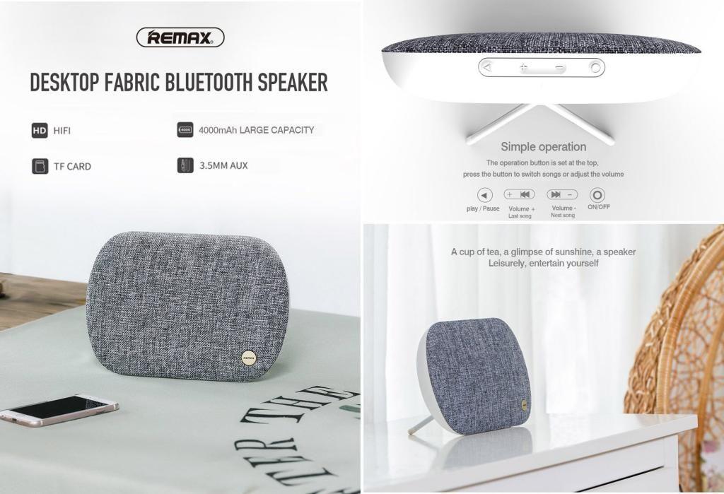 Remax M19 Fabric Stereo Bluetooth Speaker (3)