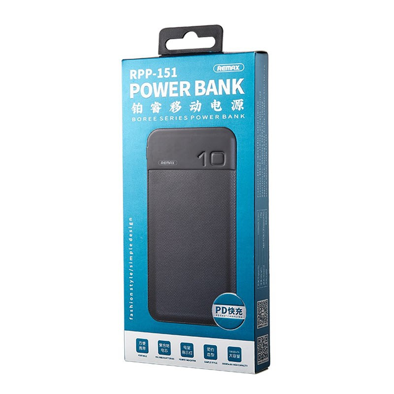 Remax Rpp 151 Power Bank 10000mah Qc3 0pd Fast Charging (1)