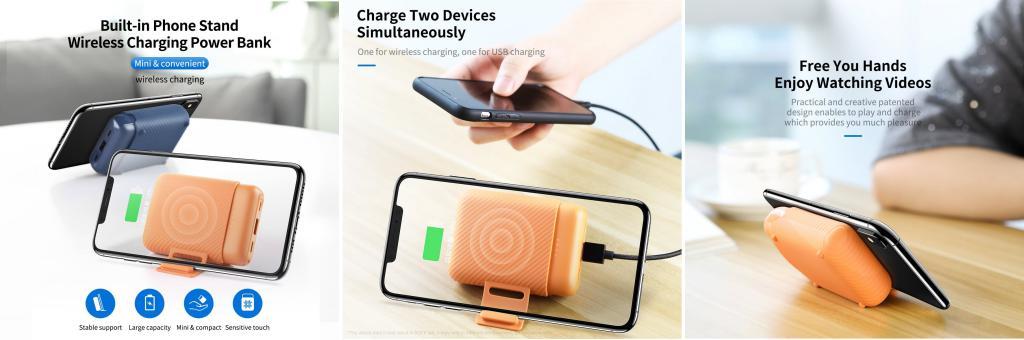 Rock P51 Mini Wireless Charging Power Bank 10000mah (1)