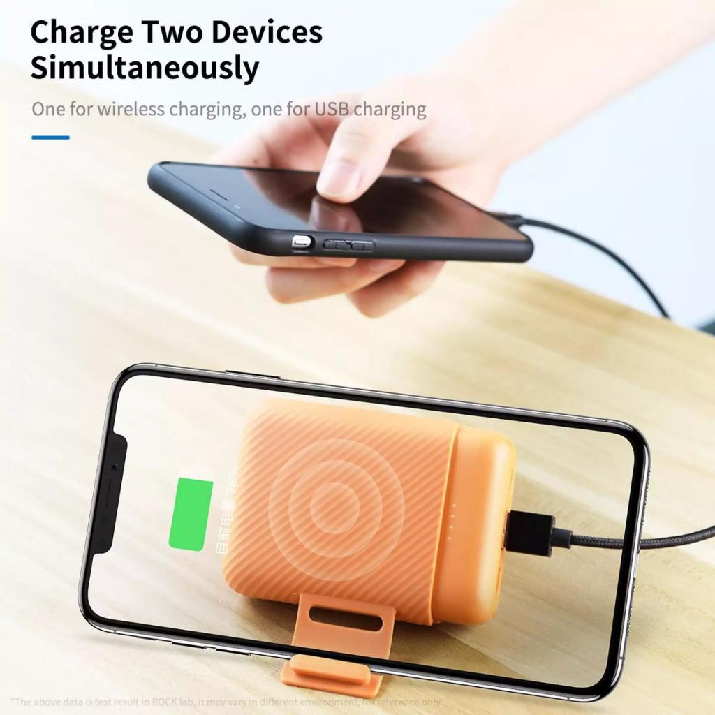 Rock P51 Mini Wireless Charging Power Bank 10000mah (3)