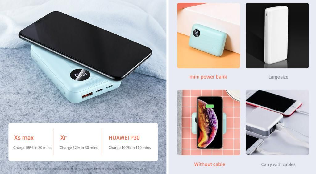 Rock P75 Mini Pd Camera Wireless Charging Power Bank 10000mah (1)