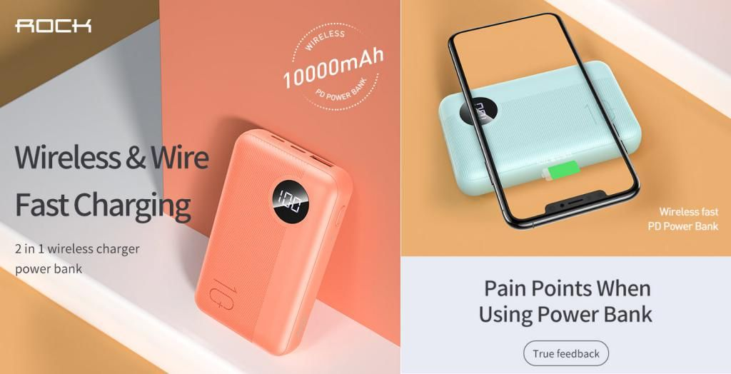 Rock P75 Mini Pd Camera Wireless Charging Power Bank 10000mah (3)