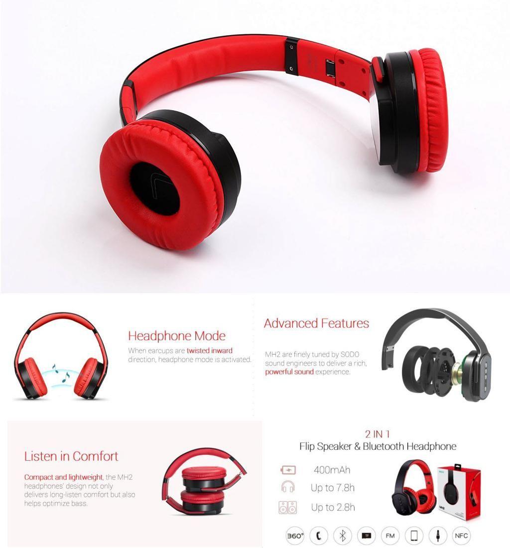Sodo Mh2 Nfc Wireless Bluetooth Headphones (1)