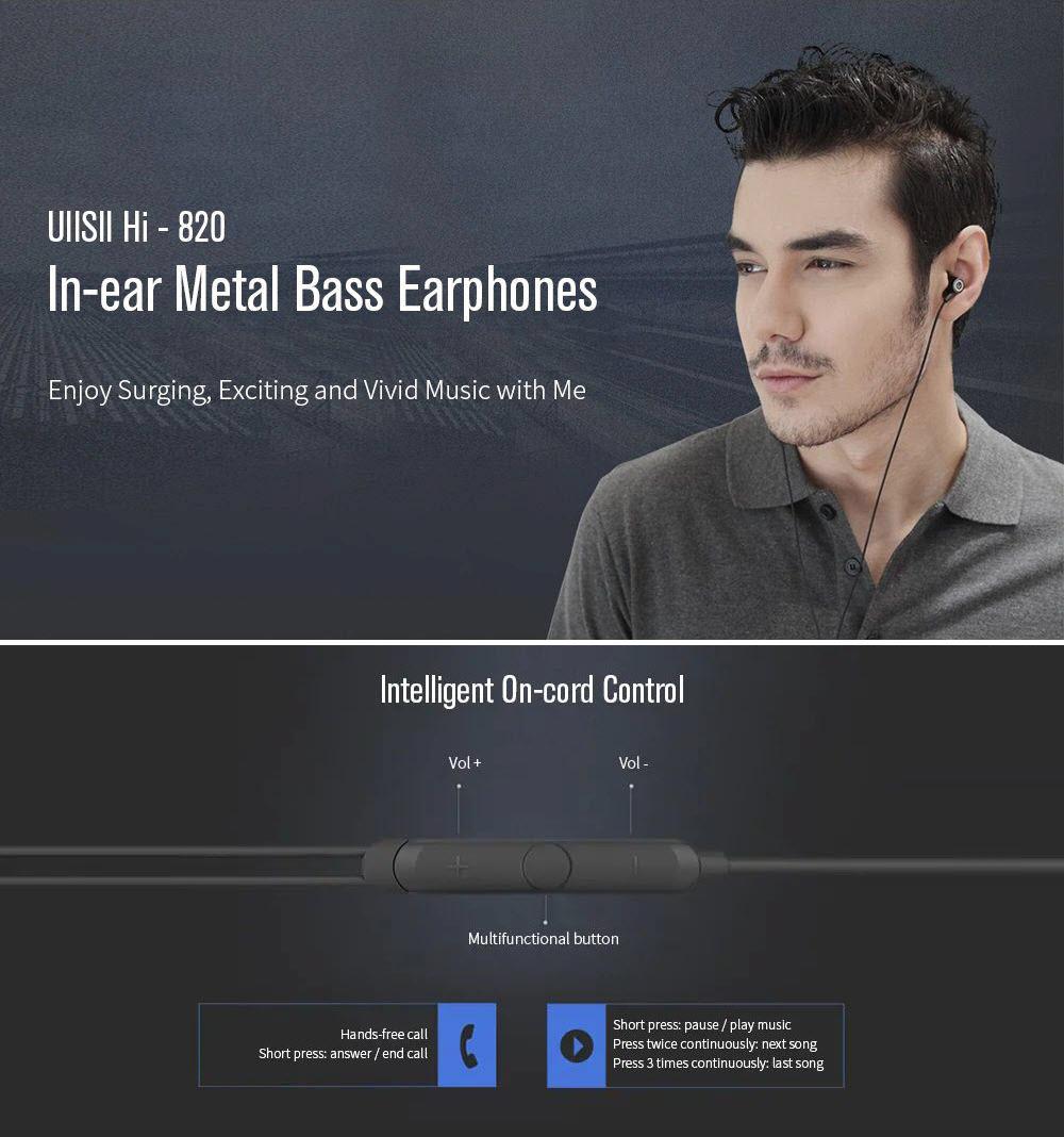 Uiisii Hi 820 Deep Bass Aluminum Alloy Cavity Earphones (3)