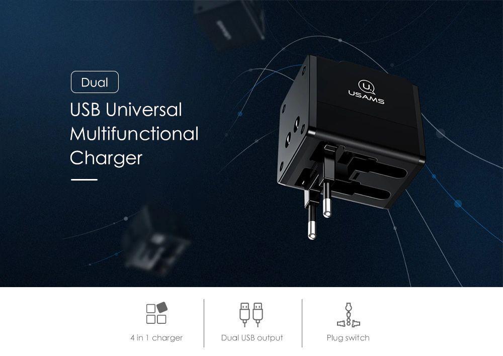 Usams T2 Dual Usb Universal Travel Charger (5)