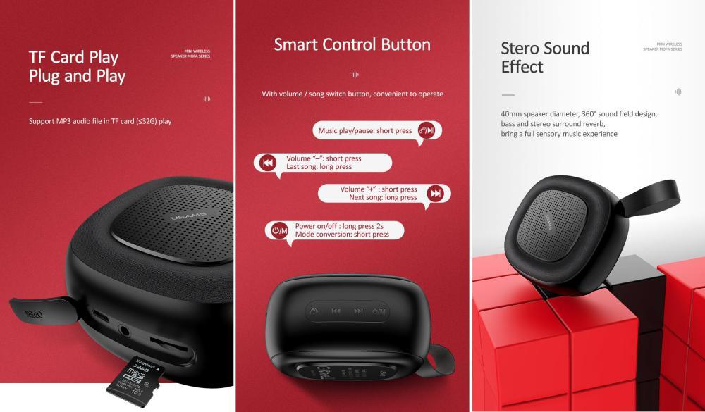 Usams Us Yx004 Wireless Bluetooth Speaker (1)