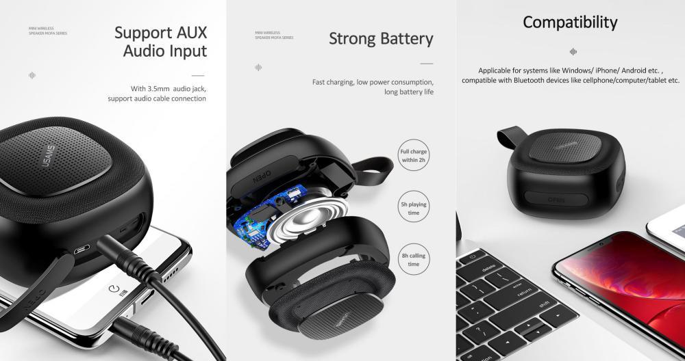 Usams Us Yx004 Wireless Bluetooth Speaker (3)