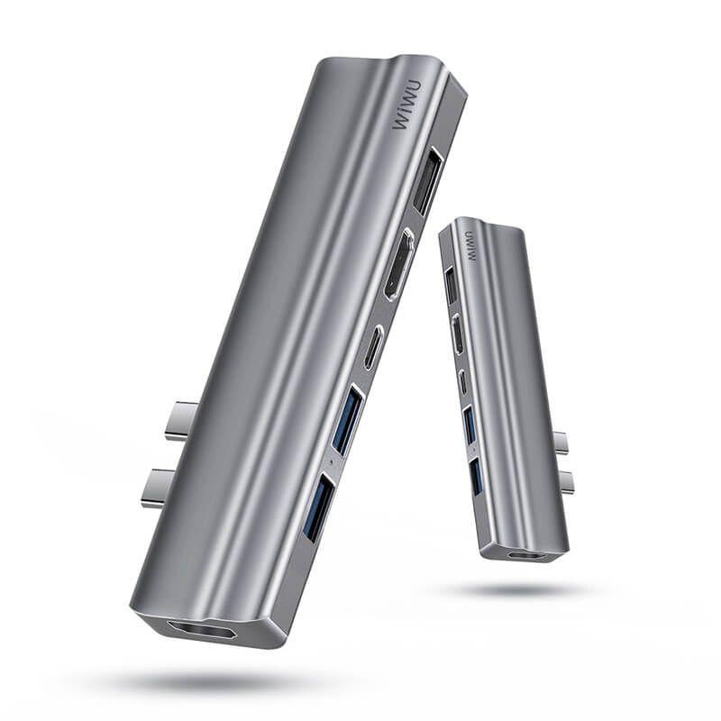 Wiwu T9 Hub 8 in 1 Hub USB C with Type C