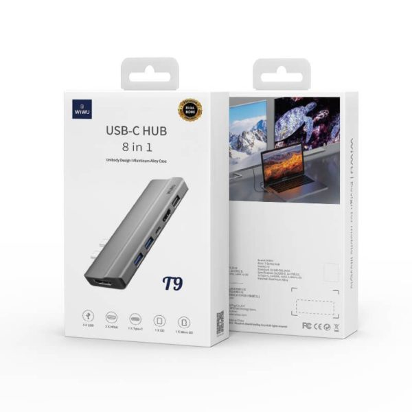 Wiwu T9 Hub 9 In 1 Hub Usb C With Type C (3)