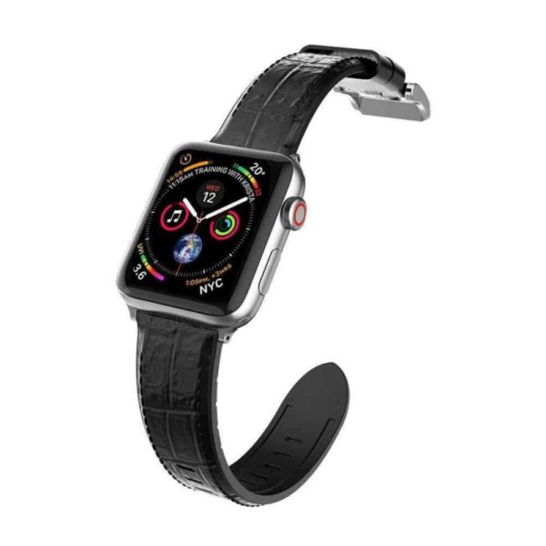 X Doria Hybrid Genuine Leather Watch Band For Apple Watch 44mm 40mm 42mm 38mm (2)