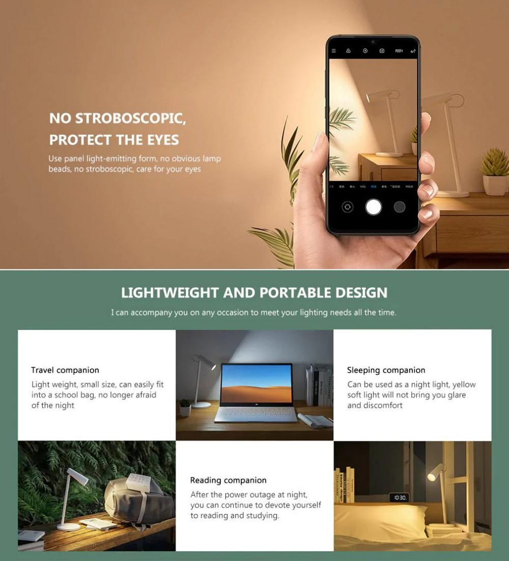 Xiaomi Mijia Wireless Usb Rechargeable Led Table Lamp (4)