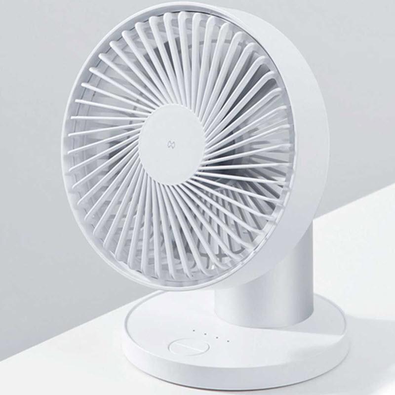 Xundd 2000mah Rotating Rechargeable Fan (1)