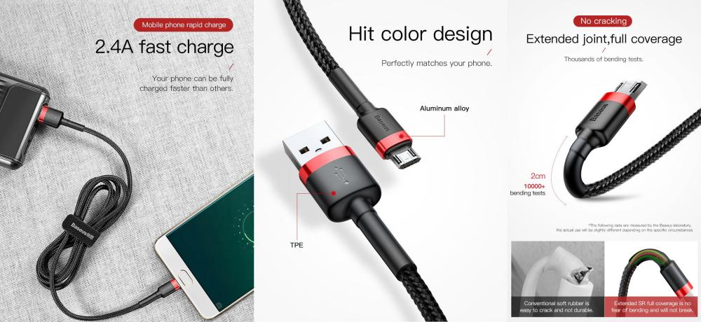 Baseus Cafule Braided Cable Micro Usb With Reversible Double Sided Entry Connector (3)