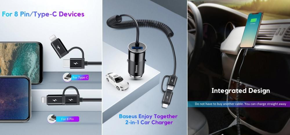 Baseus Enjoy Together 2 In 1 Carcharger (2)