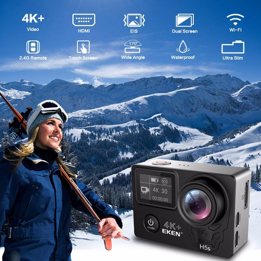 Eken H5s Plus 4k Ultra Hd Wifi 2 4g Sports Camera (4)