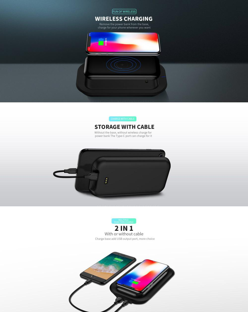 Joyroom 2 In 1 Wireless Charger And Wireless Power Bank (3)