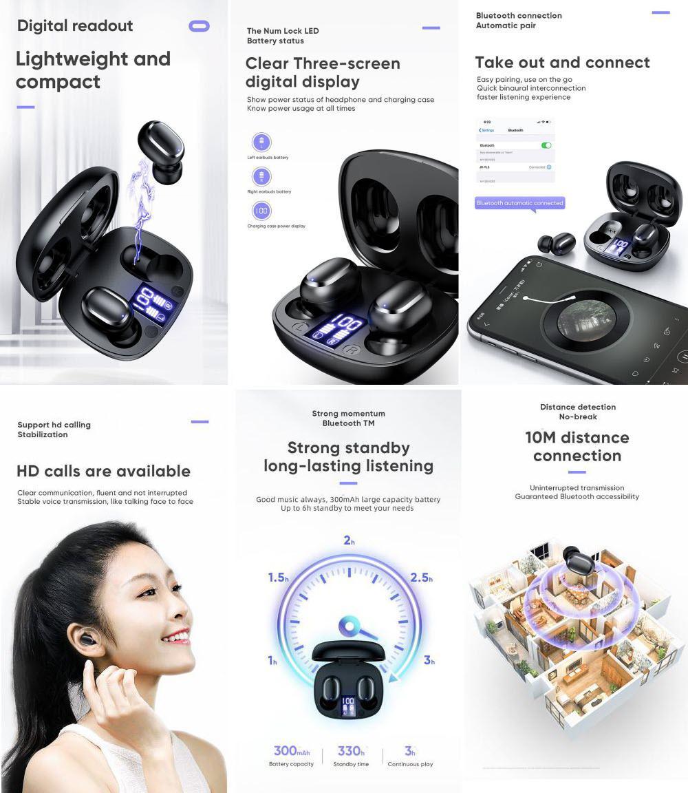 Joyroom Jr Tl5 Tws Earbuds With Digital Display (1)