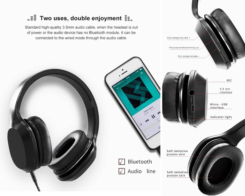 Lenovo Hd100 Wireless Bluetooth 5 0 Headphones (1)