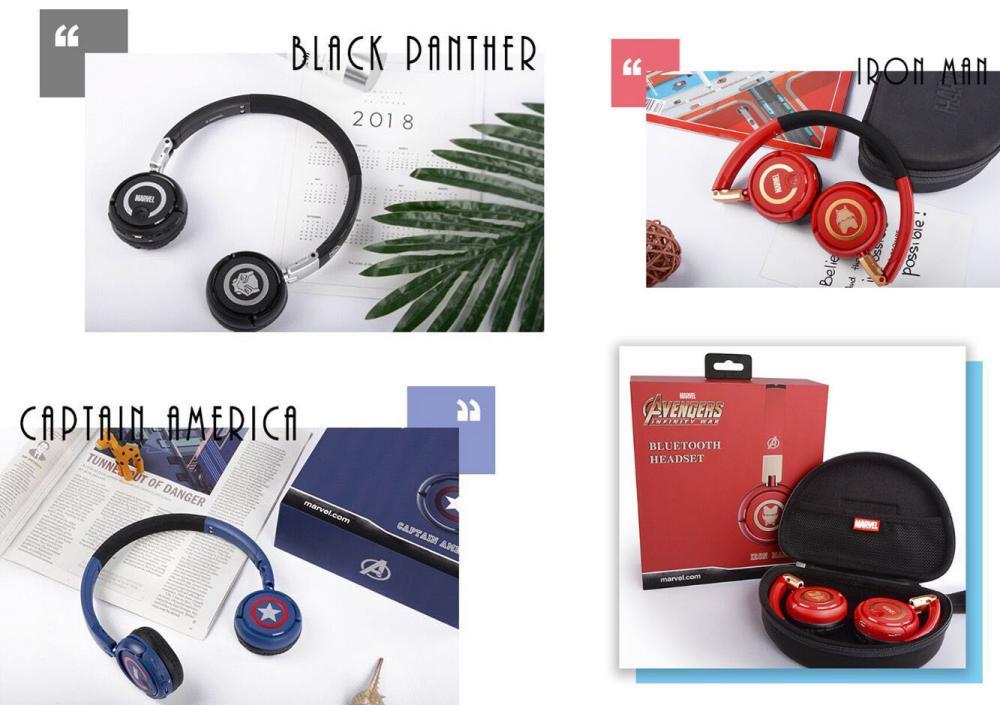 Marvel Avengers Wireless Bluetooth Headphones Captain America Iron Man Black Panther (8)