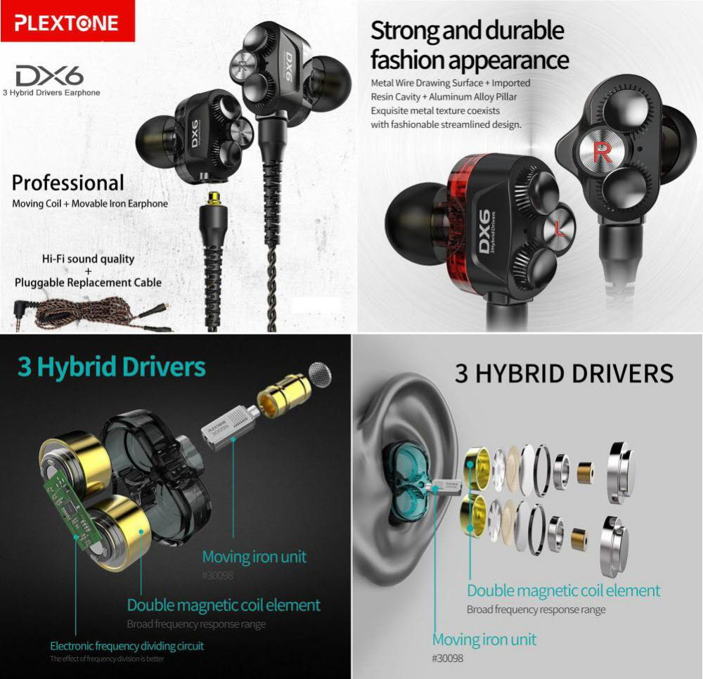 Plextone Dx6 Gaming Earphone With Detachable Cable (3)
