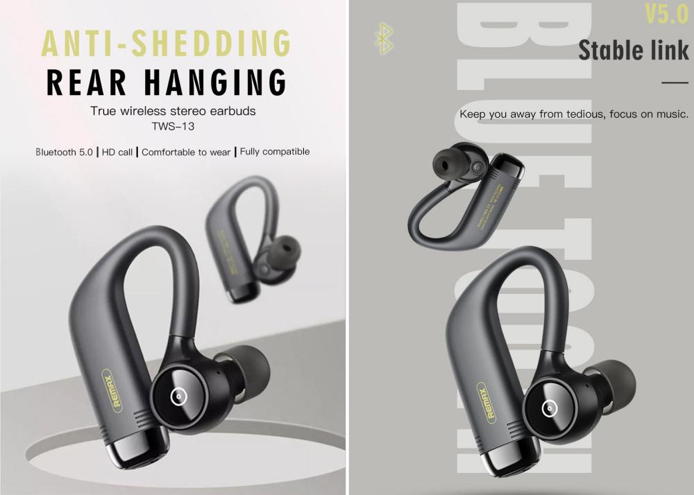 Remax Tws 13 True Wireless Sports Bluetooth Earphones (5)